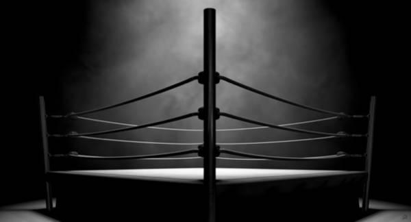 Ring Digital Art - Classic Vintage Boxing Ring by Allan Swart