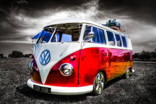 Volkswagen Camper Photograph - Classic Vw Camper Van by Ian Hufton