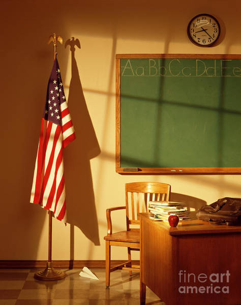 Wall Art - Photograph - Classroom by Tony Cordoza