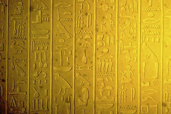Wall Art - Photograph - Clay Tablet With Hieroglyphs by Ton Kinsbergen/science Photo Library