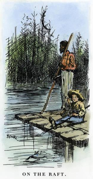 Mississippi River Drawing - Clemens Huck Finn, 1885 by Granger