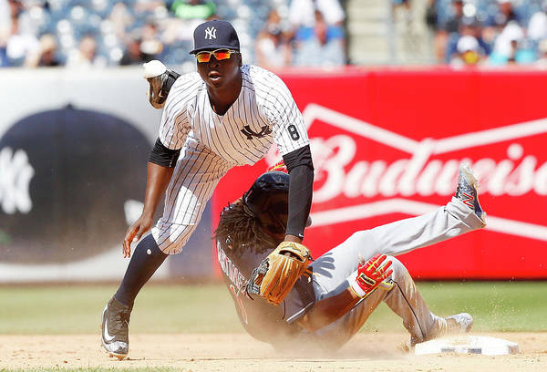 Yankee Stadium Photograph - Cleveland Indians V New York Yankees by Jim Mcisaac