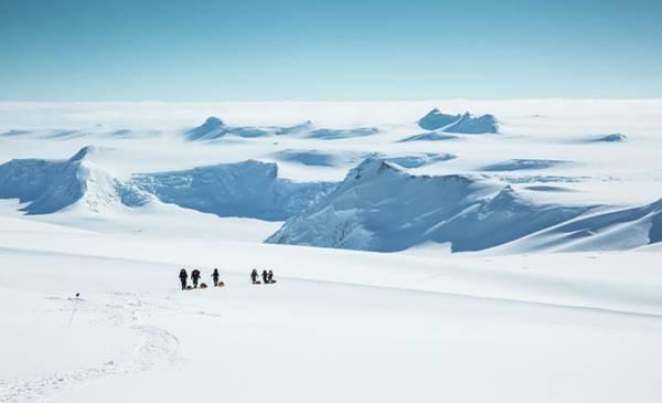 Antarctica Photograph - Climbers On Mt Vinson by Peter J. Raymond