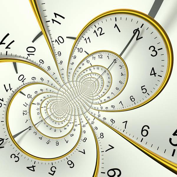 Hands Of Time Photograph - Clockface Spacetime Warp by David Parker