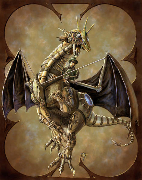 Steampunk Painting - Clockwork Dragon by MGL Meiklejohn Graphics Licensing