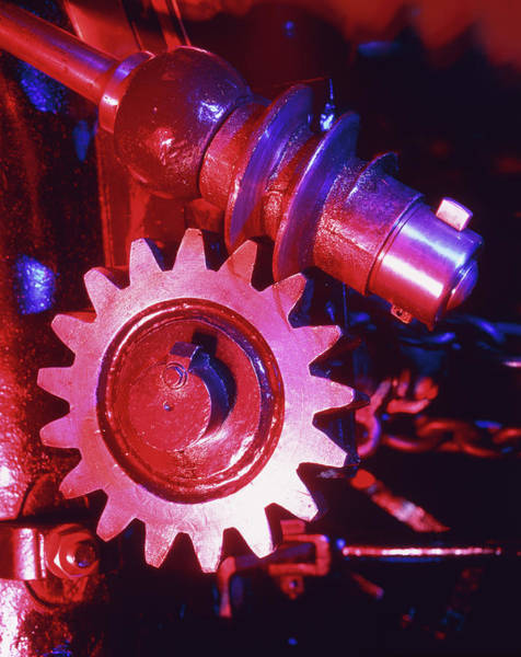 Traction Photograph - Close-up Of A Steam Traction Engine's Gear by Martin Bond/science Photo Library
