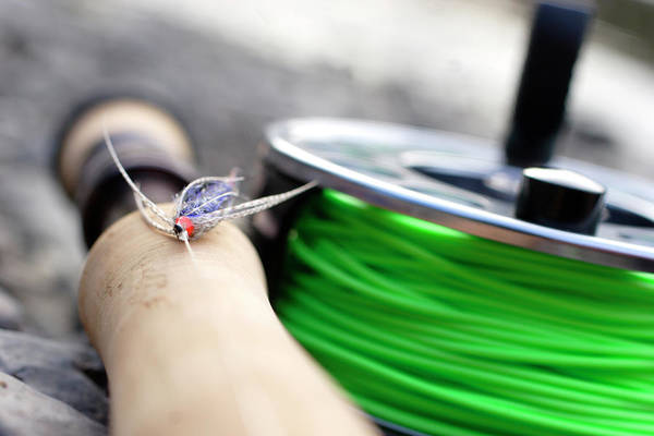 Angling Photograph - Close-up Of Fly Fishing Reel by Justin Bailie