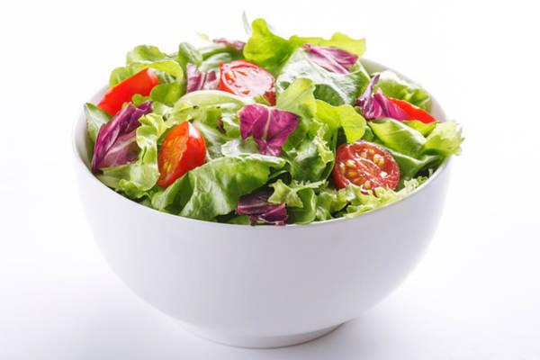 Close-up Of Fresh Salad In Bowl On White Background Art Print by Vesna Jovanovic / EyeEm