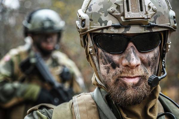 Wall Art - Photograph - Close-up Portrait Of Norwegian Armed by Oleg Zabielin