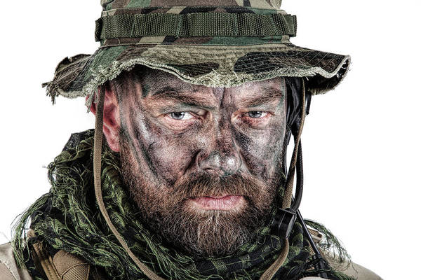 Wall Art - Photograph - Close-up Shot Of A U.s. Special Forces by Oleg Zabielin
