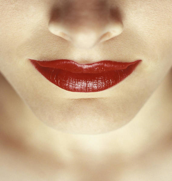 Flawless Photograph - Closeup Of Womans Lips by Darren Greenwood