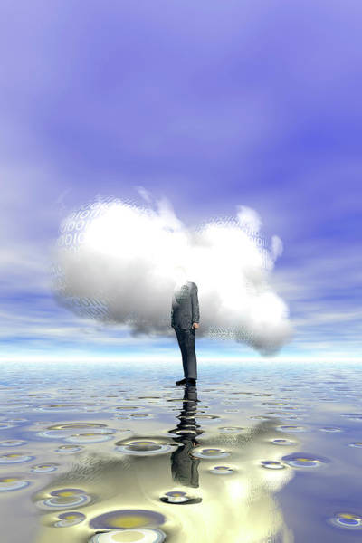 Businessman Photograph - Cloud Computing by Carol & Mike Werner