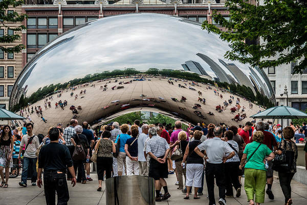 Photograph - Cloud Gate by James Howe