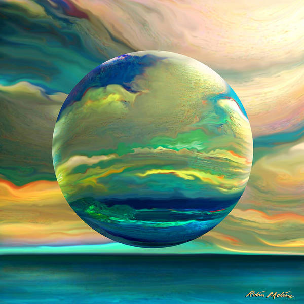 Globe Digital Art - Clouding The Poets Eye by Robin Moline