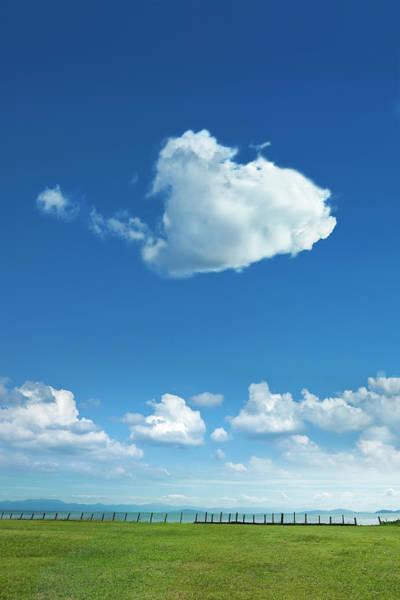 Scenery Photograph - Clouds Forming Heart In Sky by Yuji Sakai