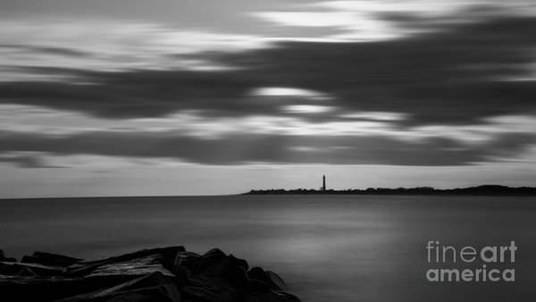 Cape May Lighthouse Photograph - Clouds In Motion Bw by Michael Ver Sprill