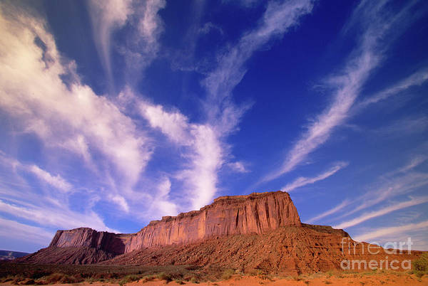 Wall Art - Photograph - Clouds Over Monument Valley by Yva Momatiuk and John Eastcott