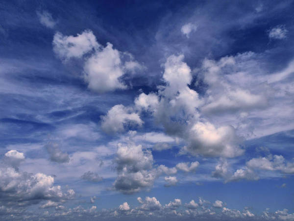 Flying A Kite Photograph - Cloudscape 4 by Tom Druin