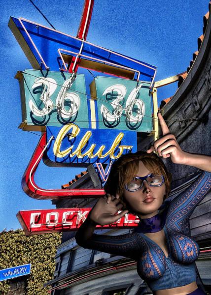 Digital Art - Club 36 by Bob Winberry
