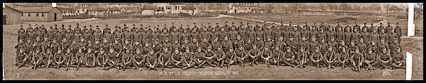 Platoon Wall Art - Photograph - Co. M. 9th U.s. Infantry Regiment by Fred Schutz Collection