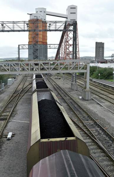 Stockyards Photograph - Coal Train Being Loaded by Robert Brook/science Photo Library