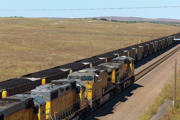 Union Pacific Railroad Wall Art - Photograph - Coal Trains by Jim West