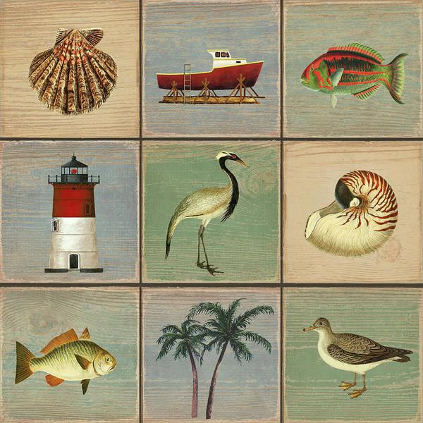 Wall Art - Drawing - Coastal Daydreams by MGL Meiklejohn Graphics Licensing