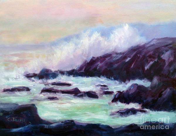 Painting - Ocean Splash by Carolyn Jarvis