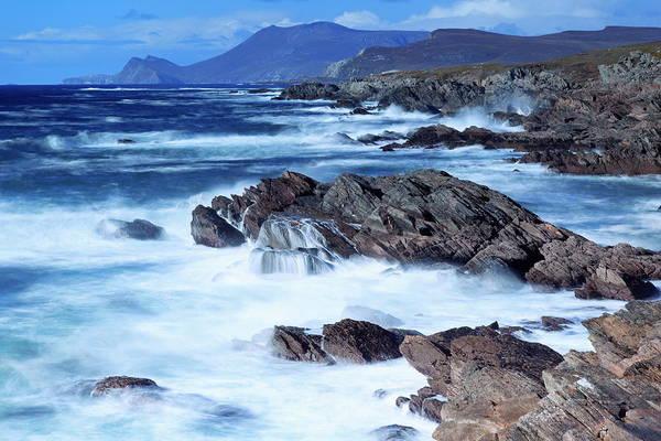High Tide Photograph - Coastline On Atlantic Drive, Achill by Richard Cummins / Robertharding