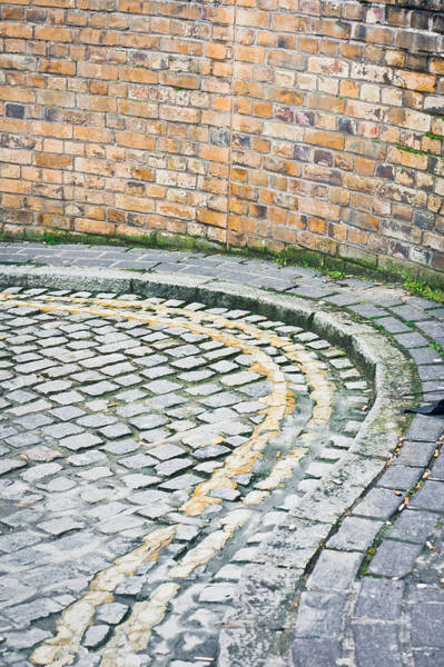 Yellow Brick Road Wall Art - Photograph - Cobbled Street by Tom Gowanlock