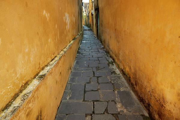 Hoi An Photograph - Cobblestones And Yellow Walls by David Wall