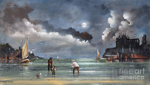Painting - Cockle Picking At Whitby by Ken Wood