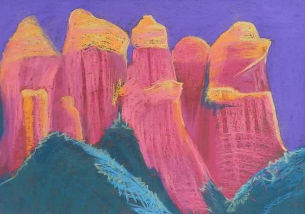 Elwood Blues Painting - Coffee Pot Mountain by Jann Elwood
