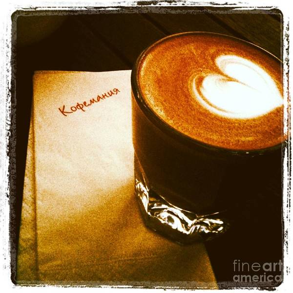 Iphoneography Wall Art - Photograph - Coffeemania by Elena Nosyreva