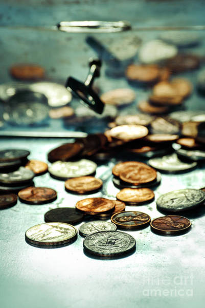 Unopened Wall Art - Photograph - Coins by HD Connelly