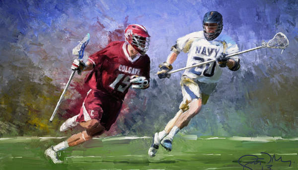 Colgate Wall Art - Painting - Colgate Lacrosse by Scott Melby