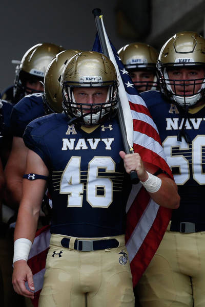 American Football Photograph - Colgate V Navy by Rob Carr
