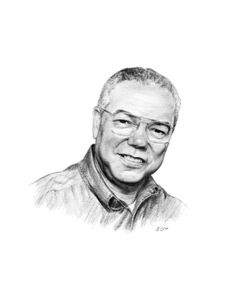 Persian Gulf Drawing - Colin Powell by Lou Ortiz