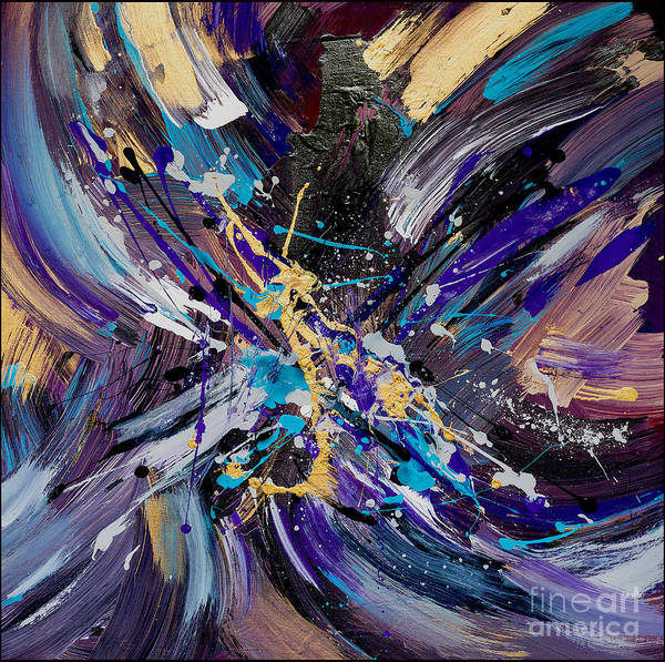 Pink Champagne Painting - Collide by Roya Gharavi