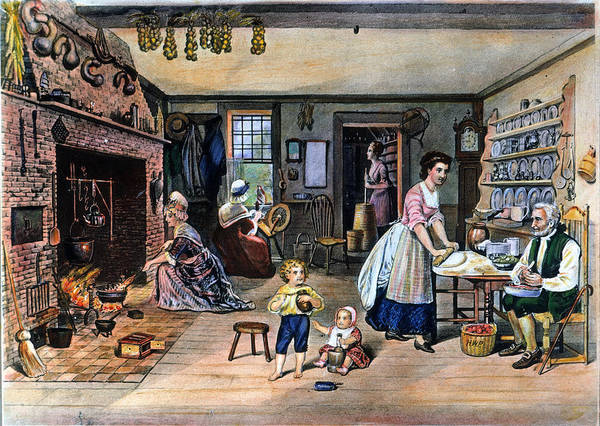 Churn Painting - Colonial Kitchen by Granger