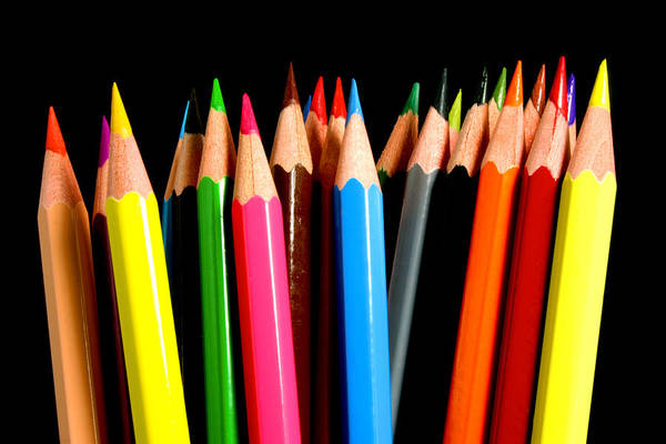 Pencil Drawing Photograph - Colored Pencils by Michael Tompsett