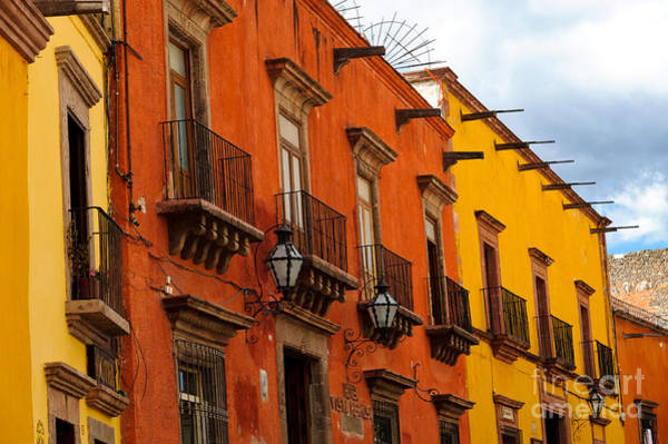 Photograph - Colorful Buildings Mexico by John Shaw