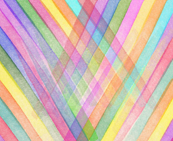 Pinks Wall Art - Digital Art - Colorful Stripes by Aged Pixel
