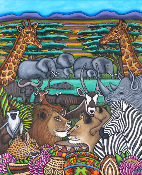 Painting - Colours Of Africa by Lisa  Lorenz
