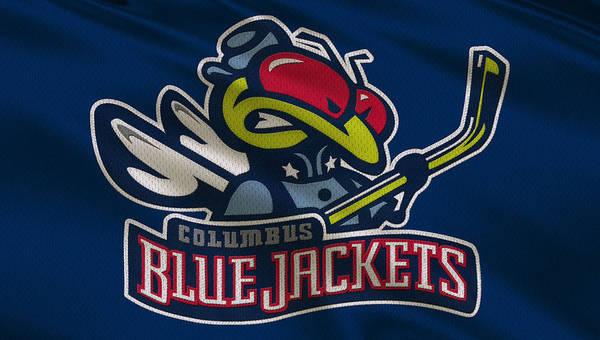Blue Jackets Photograph - Columbus Blue Jackets Uniform by Joe Hamilton