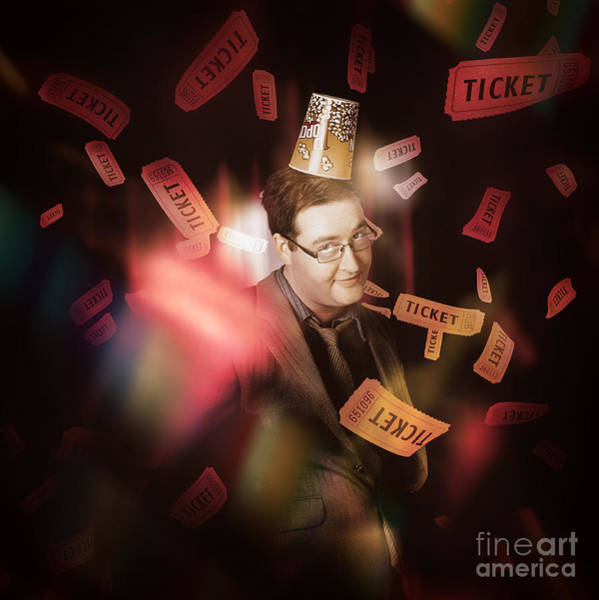 Wall Art - Photograph - Comedy Entertainment Man On Theater Stage by Jorgo Photography - Wall Art Gallery