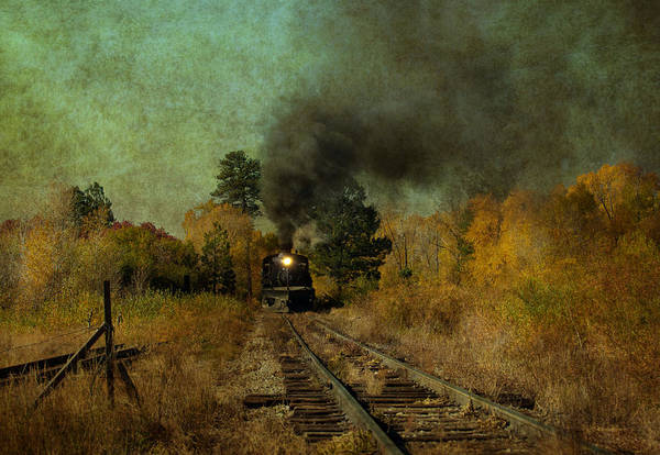 Chama Photograph - Coming Up The Tracks by Carolyn Dalessandro
