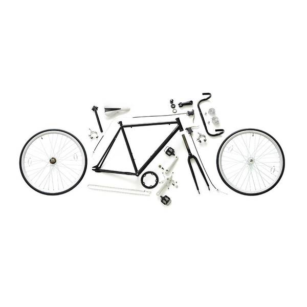 Deconstruction Photograph - Components Of A Road Bike by Science Photo Library