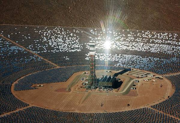 Wall Art - Photograph - Concentrating Solar Power Plant by Jim West