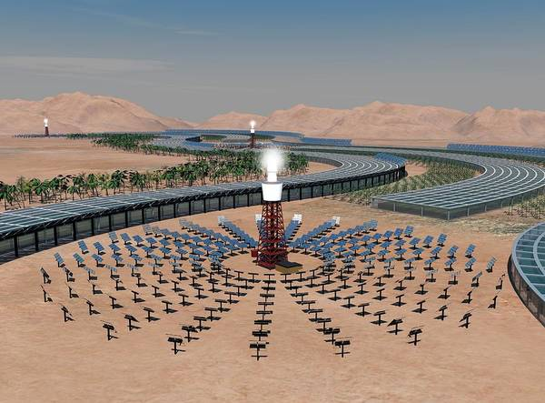 Wall Art - Photograph - Concentrating Solar Power Plant by Paul Wootton/science Photo Library